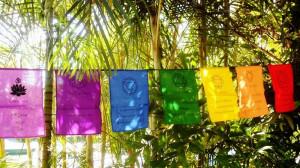 Chakra Sayings Prayer Flag