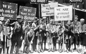Child workers on strike in Philadelphia, Pennsylvania, 1903.