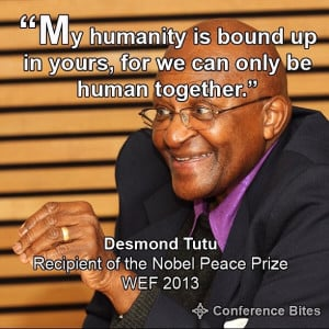 Desmond Tutu at WEF 2013