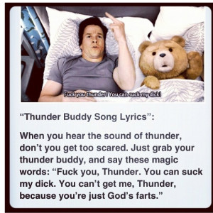 Thunder buddy!!!