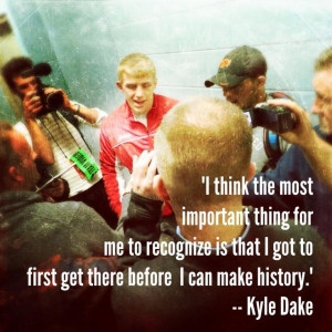 Quote from Kyle Dake! #wrestling