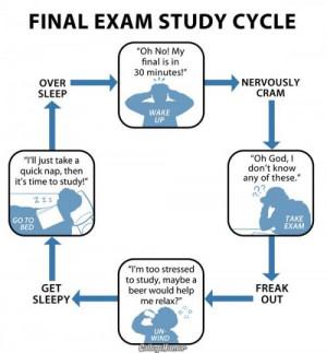 Tags: exam humor · final exam study cycle for geeks · geek fun ...