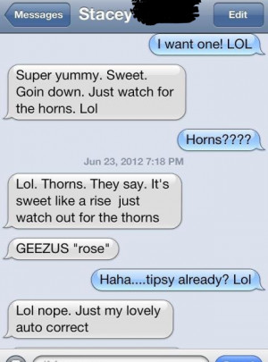 funny auto-correct texts - Drinking Some Sweet Revenge