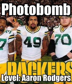Green Bay Packers, Aaron Rodgers Photobomb, Football