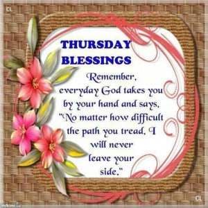 Thursday Blessing. ..