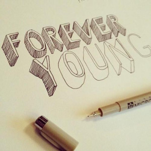 drawing forever young Sketch