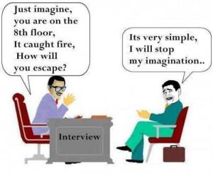 Funny interview cartoon