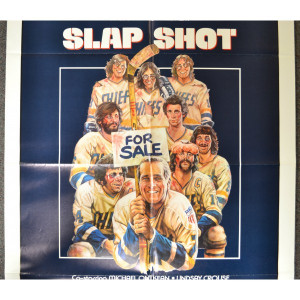 SLAP SHOT Original 1977 Hockey Comedy Movie Poster with Paul Newman ...
