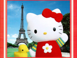 ... Gratis Fondo De Pantalla Hello Kitty En Paris Para Niños picture