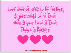 Wanna know What's the Perfect Love?
