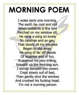 Thread: Morning Poem