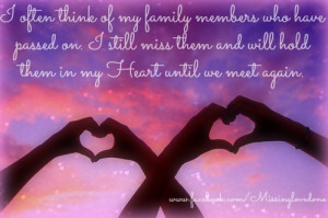 Often Think Of My Family Members Who Have Passed On. I Still Miss ...