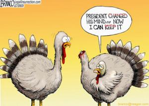 2013 White House Turkey Pardon Fail! (Cartoons)