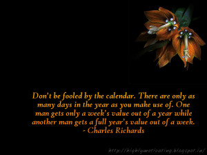 Time Management Wallpaper - Charles Richards Quote