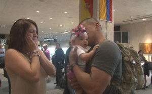 WATCH: Marine meets daughter for the first time during tearful ...