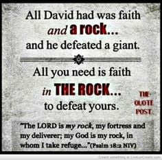 God Is My Rock-FOR MORE GREAT CHRISTIAN QUOTES VISIT thequotepost.com ...