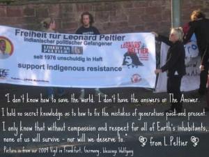 Our Leonard Peltier vigil in Frankfurt/Germany