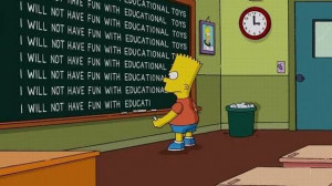 Funny Bart Quotes At Blackboard