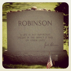 the life influence and death of jackie roosevelt robinson Born on january 31, 1919, in cairo, georgia, jack roosevelt robinson was the youngest of jerry and mallie robinson's five children when jackie was just a young infant, his father abandoned.