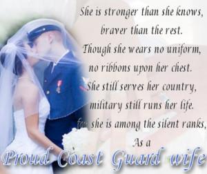 Proud Coast Guard Wife