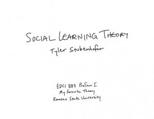 Albert Bandura 39 s Social Learning Theory
