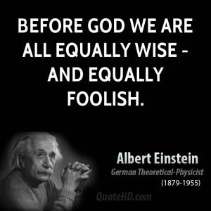 Albert Einstein Quotes God