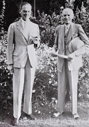 Sir Stafford Cripps with Quaid-e-Azam in 1946