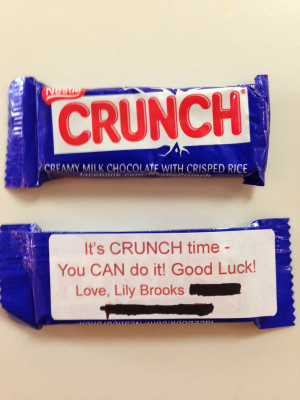 It's CRUNCH time - You CAN do it!' Good Luck Treat