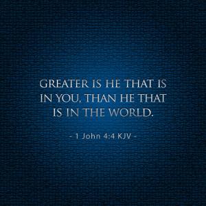 John 4:4 - iPad Scripture Christian - Bible Lock Screen Wallpaper