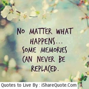 No matter what happens…
