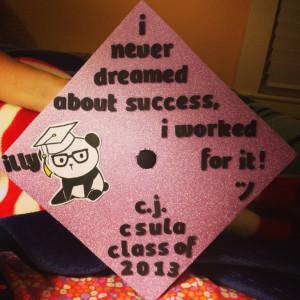Graduation cap #csula #2013
