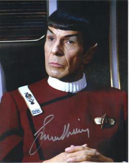 Leonard Nimoy Star Trek II The Wrath of Khan Mr Spock Autographed