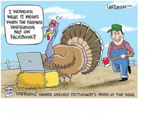 farmer unfriends turkey on facebook
