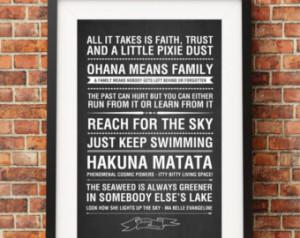 Disney Movie Quotes 2 Chalkboard - Jpeg/PDF - A4 + Letter + 8x10 ...