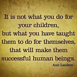 teaching your children inspirational quote