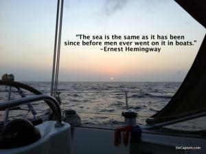 , ocean, conservation quotes, ernest hemingway quotes,sailing quote ...