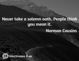 Funny Quotes - Norman Cousins