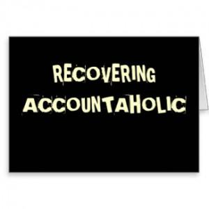Funny Accountant Nickname - Accountaholic card