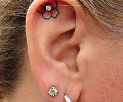 Small Tattoo and Ear Piercings