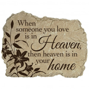 Details about Heaven In Our Home Garden Memorial Stone
