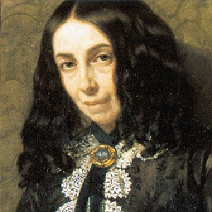 photograph of Elizabeth Barrett Browning.