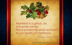 vintage Christmas card with Pope John XXIII quote