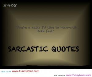 Sarcastic Quote.