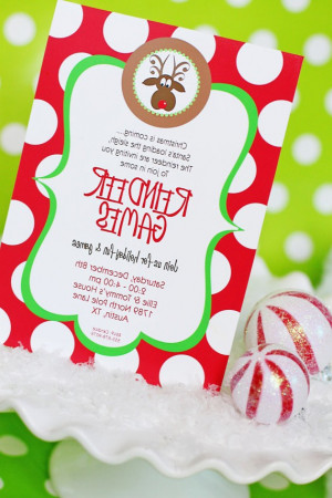 Company Christmas Party Invitations Wording