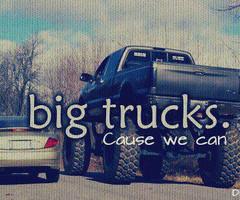 jacked up trucks mudding