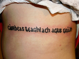 Irish Tattoo Quotes Meaningful tattoo