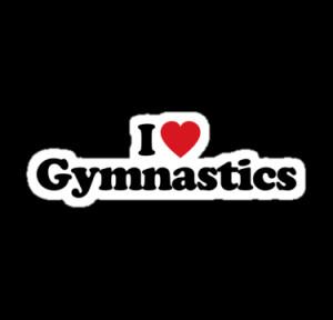Love Gymnastics Logo I love gymnastics by iheart