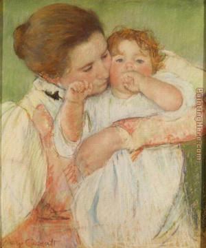 Mary Cassatt - Mary Cassatt Mother and Child, 1897 Painting