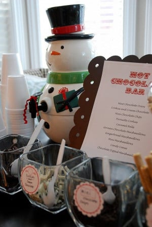 hot chocolate bar - cute idea for cookie exchange or kid's Christmas ...
