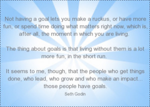 used Seth Godin quotes to kick off my goal setting post for 2012 and ...